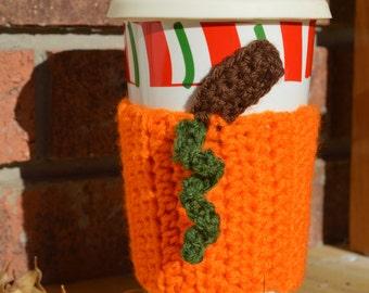 Pumpkin Coffee Cozy