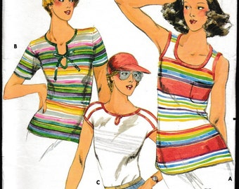 Butterick 5434 Misses T-Shirts and Tank Top