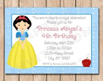 Snow White Birthday Invitation | Princess - 1.00 each printed