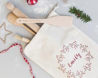 Baking Set - Personalised Baking Gift - Personalised Baking Set - Cotton Bag - Cooking Utensils - Personalized Kitchen - Personalised Bag