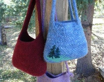 Wild Woolie Felted Bag PATTERN