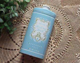 Vintage powder tin,Avon powder tin,Hears my Heart powder,perfumed Talc,Vintage Avon