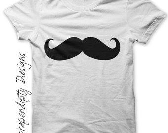 Mustache Iron on Transfer - Mens Iron on Shirt PDF / Mens Mustache Shirt / Little Man Birthday Photo Props / Kids Boys Clothing Top IT99