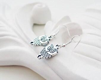 Silver Owl Earrings | Woodland Earrings