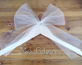 Ships in 1-3 day, Personalized 2 Line Wedding Hanger,bridesmaid Hanger,name hanger,bride hanger,bridal party gifts,custom hanger,hanger,gift