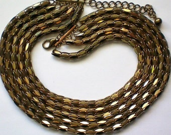 Stunning Five Strand Metal Necklace - 5055
