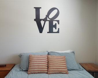 Love Sign Metal Art