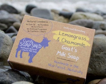 Lemongrass and Chamomile Goats Milk Soap