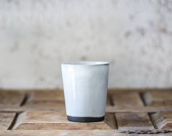 Ceramic Espresso Cup, Black and White Espresso Cup, Unique coffee mug, Ceramic Coffee cup, Housewarming Gift, Christmas Gift