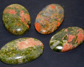 122Cts. Natural Unokite Cabochon Gemstone Wholesale Lot Mix Shape Loose Gemstone 1200