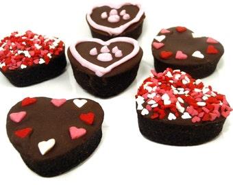 Organic Dog Treats -  Mini Hearts - All Natural Dog Treats Organic Vegetarian Carob Cake Mini Hearts- Shorty's Gourmet Treats