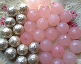 Destash Colorful Bubblegum Beads Mixed Bead Lot Supplies DIY Collection