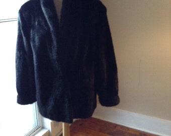Vintage Black Mink Coat Jacket Sz Medium JUST REDUCED!