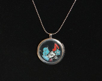 Pendant with Flottant Charms