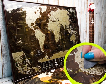 Scratch the world scratch off places you travel map print scratch world map scratch off map scratch off travel map world map gumiabroncs Gallery