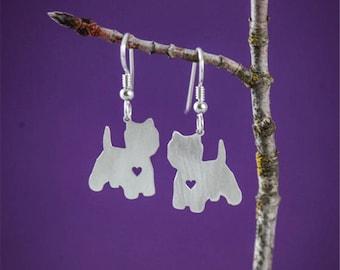 Westie Higland Terrier (Westie) earrings