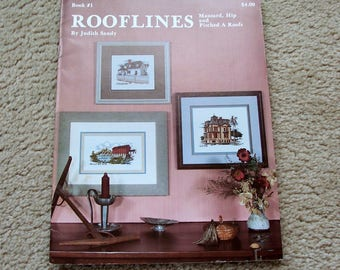 Cross Stitch Pattern Booklet, Rooflines, Judith Sandy
