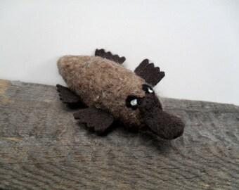 Catnip cat toy platypus, needle felted