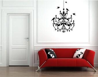Bird Chandelier Vinyl Wall Art Decal