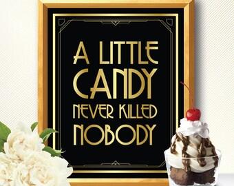 Dessert table, dessert table sign, dessert table decor, dessert sign, dessert bar, dessert bar sign, candy bar, art deco, great gatsby, bar
