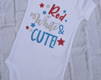 Girls Fourth of July shirt, baby's first Fourth of July, Fourth of July baby girl, Independence day shirt, toddler girl Fourth of July shirt