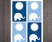 PRINTABLE blank elephant ...