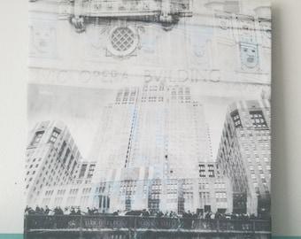 "Chicago 13"" Canvas Wall Art - Lyric Opera Building Photo Collage"