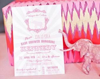 Elephant Baby Shower Party Package- Printable