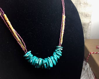 Turquoise and Opal necklace