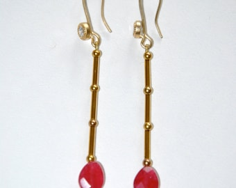 Vintage Ruby and Gold earrings