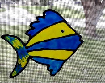 Gallery Glass Window Clings Fish