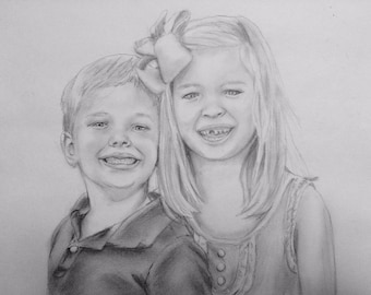 Pencil Portrait Custom Drawing