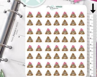 Poop Stickers Emoji Stickers Emoticon Stickers Planner Stickers Erin Condren Functional Stickers Decorative Stickers Kawaii Stickers NR668