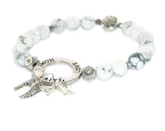 Glauben-Armband, personalisierten Brief Charms, glaube Hoffnung und Liebe