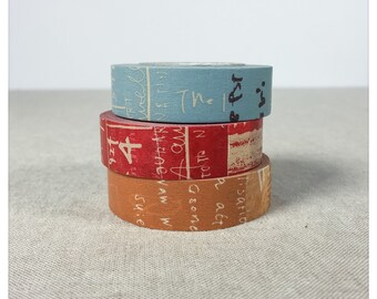 Graffiti B Pattern Washi Tape 3pk - Classiky