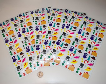 Mrs. Grossman's Vintage Accessories Sticker Stickers Lot of 5 sheets of 18 = 90 from 1983
