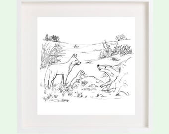 Countryside Friends Print