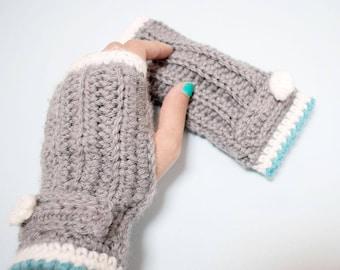 Crochet Kit-moñoñis mittens-patterned crochet mitts