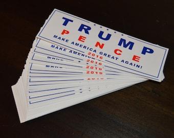 1 Donald Trump bumper sticker republican nominee 2016 Make America Great Again Mike Pence