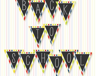 Back To School PRINTABLE Banner (INSTANT DOWNLOAD) by Love The Day