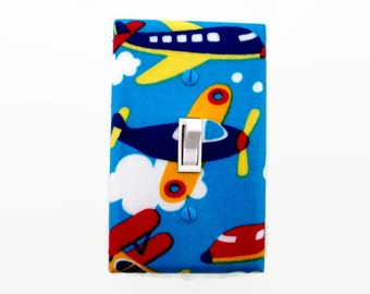 Airplane Light Switch Cover - Planes Switchplate - Airplane Nursery