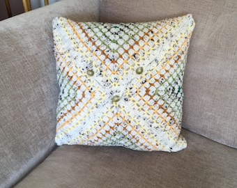 Spring's Here Crochet Cushion Cover