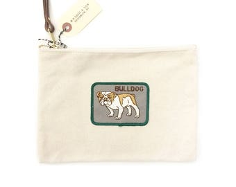 Vintage Patch Pouch - Dog Breed Patch - Bulldog