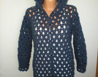 Crochet cardigan pattern,Crochet hooded cardigan pattern,pdf download,Easy hooded cardigan pattern,Jacket,Hood,Crochet Jacket,Sweater,Top