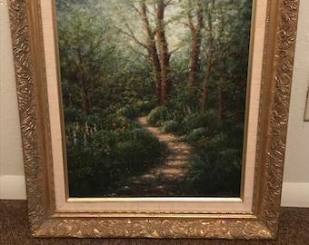 Oil painting by Vesta J Ewing