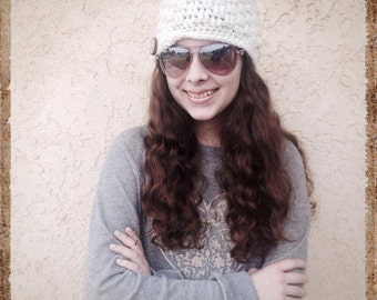 Cassidy Textured Crochet hat with Flip Brim Pattern by Harvester Products