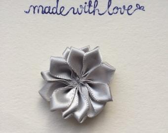 Lapel Flower, Grey Lapel Pin, Mens Lapel Flower, Flower Lapel Pin, Stick Pin, Tie Tack, ivory Flower, Boutonniere