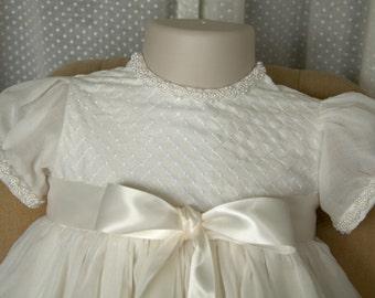 Baptism/Christening/Naming Gown and Bonnet Set