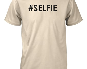 Men's Selfie Hashtag Funny T-Shirt Instagram DJ EDM Party Tee