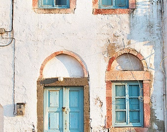 Greece Photography, Travel Photography, Fine Art, Photojournalism, Home Decor, Wall Art, Office Decor, Color, Patmos, Doors, blue, yellow